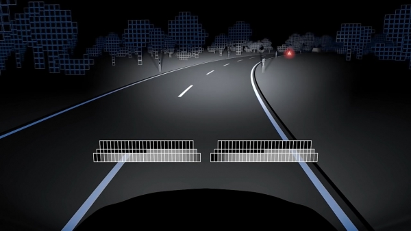 The Matrix LED System Makes it Possible to  Illuminate All the Areas on Road